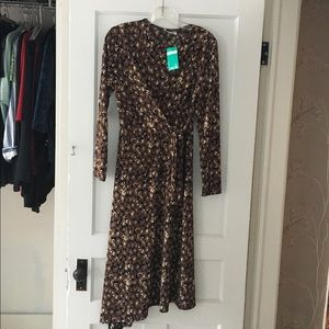 Leopard Dress- John Zack  Asymmetrical Hem
